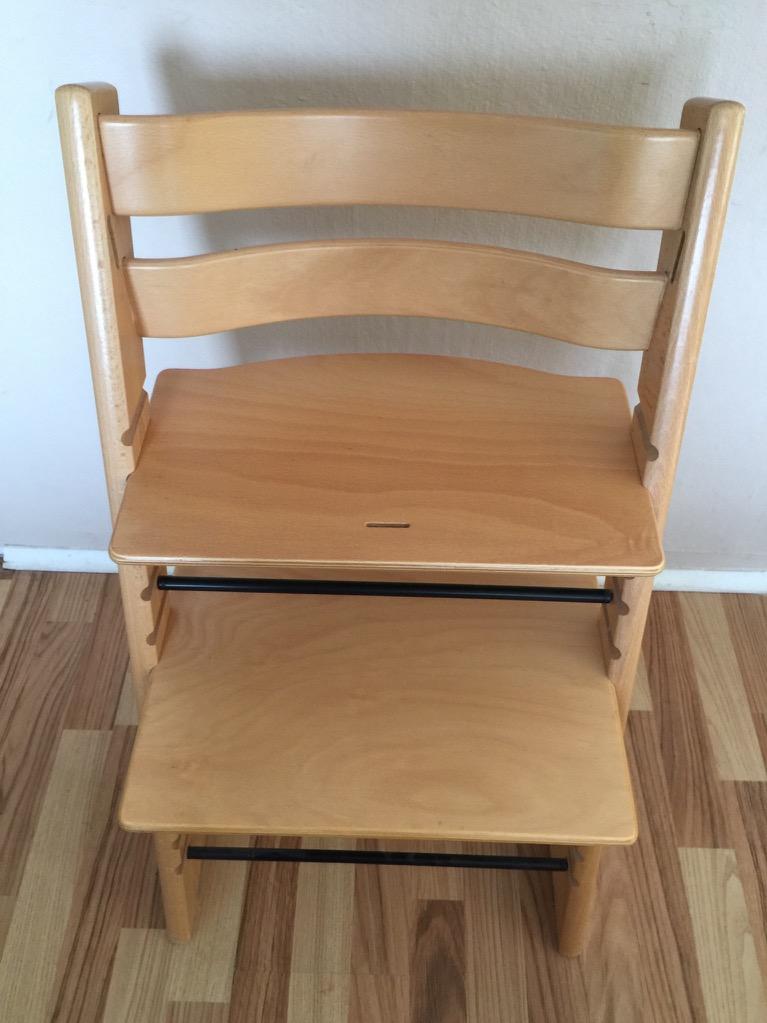 stokke tripp trapp trip trap treppenhochstuhl holz natur passt f newbornset ebay. Black Bedroom Furniture Sets. Home Design Ideas